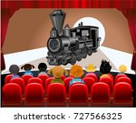 cinema hall  | Shutterstock .eps vector #727566325
