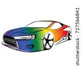 gay car vector | Shutterstock .eps vector #727566841