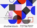 cover template with bauhaus ... | Shutterstock .eps vector #727567057