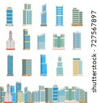 skyscrapers buildings towers... | Shutterstock .eps vector #727567897