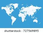 world map | Shutterstock .eps vector #727569895