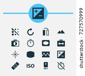 image icons set. collection of... | Shutterstock .eps vector #727570999