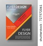 abstract flyer design... | Shutterstock .eps vector #727572061