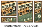 the poster in vintage style on... | Shutterstock .eps vector #727572931