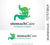 stomach care logo template... | Shutterstock .eps vector #727573819