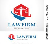law firm logo template design... | Shutterstock .eps vector #727574029