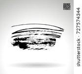 black brush stroke and texture. ...   Shutterstock .eps vector #727574344