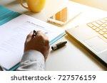 businessman reading job... | Shutterstock . vector #727576159