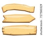 directory wooden signboard road ... | Shutterstock .eps vector #727583329