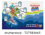 thailand map with colorful... | Shutterstock .eps vector #727583665