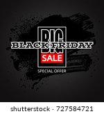 black friday sale background ... | Shutterstock .eps vector #727584721