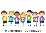 illustration of stickman kids... | Shutterstock .eps vector #727586299