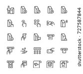 self service terminals icon set.... | Shutterstock .eps vector #727587844