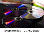 compact discs and disc boxes | Shutterstock . vector #727591009