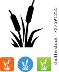 cattail wetland plants icon | Shutterstock .eps vector #727591255