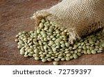 Macro View Of Lentils On Woode...
