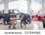 blurred photo car showroom for... | Shutterstock . vector #727594585