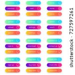colorful set of web buttons.... | Shutterstock .eps vector #727597261