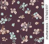 simple cute pattern in small... | Shutterstock .eps vector #727601557