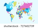 color world map | Shutterstock .eps vector #727602739