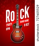 rock festival flyer event... | Shutterstock .eps vector #727605529