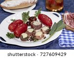 confit of san marzano tomatoes... | Shutterstock . vector #727609429