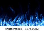 seamless gas fire and flame... | Shutterstock . vector #72761002