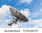 parabolic satellite antenna...   Shutterstock . vector #727610479