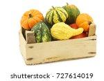 colorful decorative pumpkins in ... | Shutterstock . vector #727614019