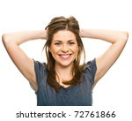young woman with big smile ... | Shutterstock . vector #72761866