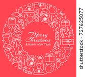 christmas and new year banner... | Shutterstock .eps vector #727625077