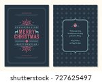 christmas greeting card design... | Shutterstock .eps vector #727625497
