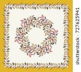 autumn square arrangement from... | Shutterstock .eps vector #727625941