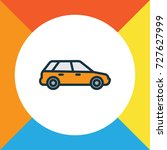station wagon colorful outline... | Shutterstock .eps vector #727627999