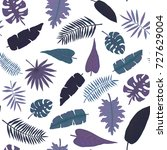 seamless pattern of hand drawn... | Shutterstock .eps vector #727629004