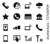 16 vector icon set   phone ...