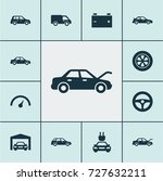 automobile icons set....   Shutterstock .eps vector #727632211
