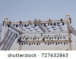 projector lights section view... | Shutterstock . vector #727632865