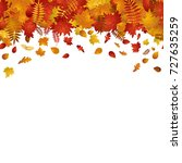 colorful falling leaves autumn...   Shutterstock .eps vector #727635259