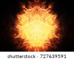 the light of fire from the...   Shutterstock . vector #727639591