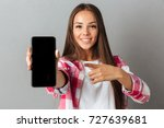 young pretty smiling woman... | Shutterstock . vector #727639681