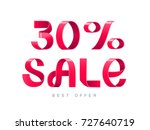 vector illustration. red ribbon ... | Shutterstock .eps vector #727640719
