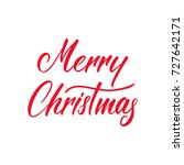 merry christmas. vector... | Shutterstock .eps vector #727642171