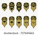 military ranks stripes and... | Shutterstock .eps vector #727644661
