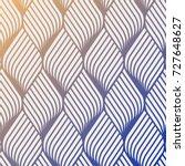 abstract flower ripple pattern. ... | Shutterstock .eps vector #727648627