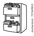 files drawer   cartoon vector... | Shutterstock .eps vector #727649815