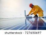 technician checks the... | Shutterstock . vector #727650697