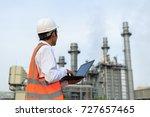 gas turbine electric power... | Shutterstock . vector #727657465