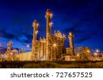 gas turbine electric power... | Shutterstock . vector #727657525