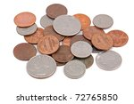 Pile Of American Coin  Isolated ...